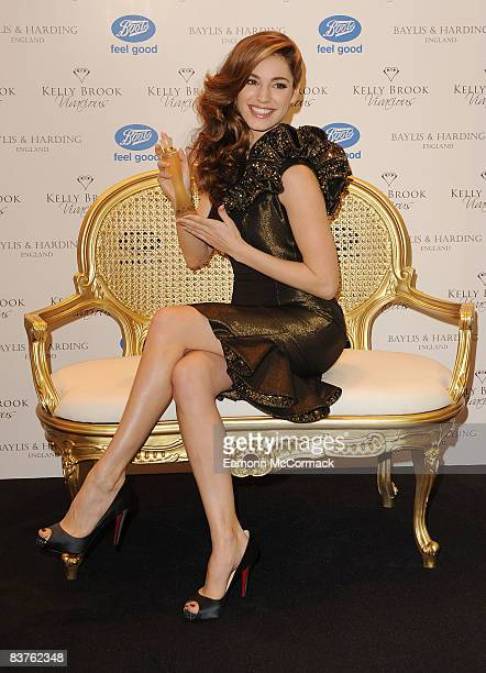 Kelly Brook launches her new fragrance 'Vivacious' at Boots Flagship Store on November 20 2008 in London England