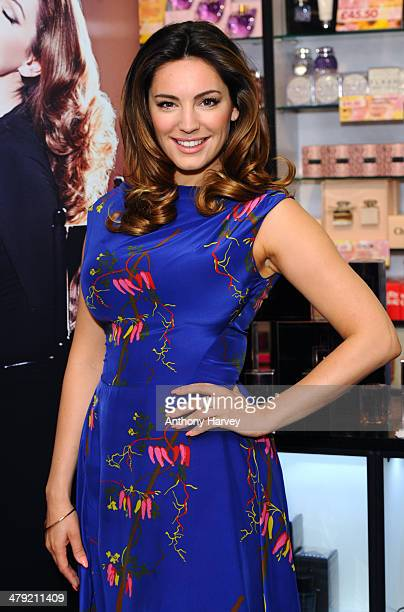 Kelly Brook launches her new perfume 'Audition' at The Perfume Shop on March 17 2014 in London England