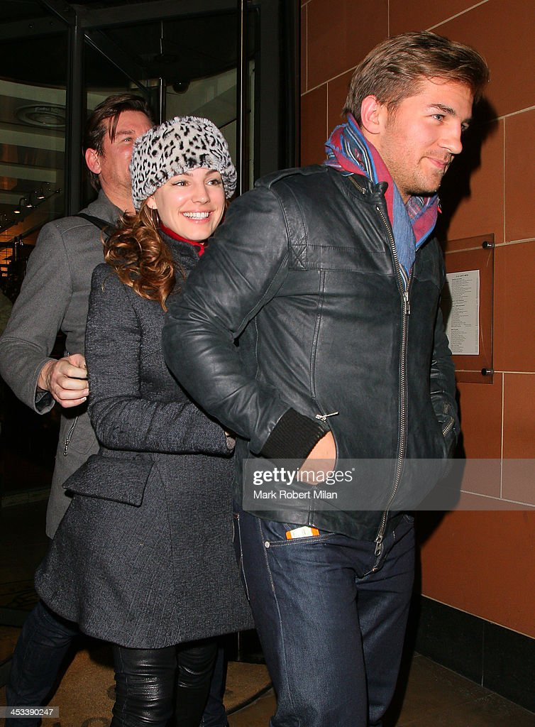 Kelly Brook leaving C restaurant on December 3, 2013 in London, England.
