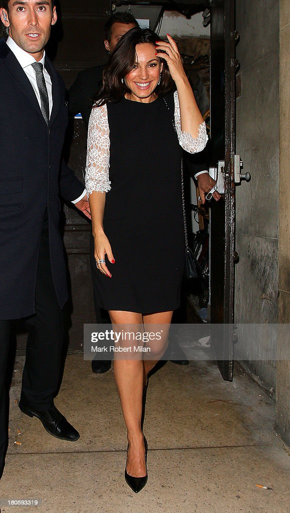 Kelly Brook leaving Mahiki night club on September 14, 2013 in London, England.