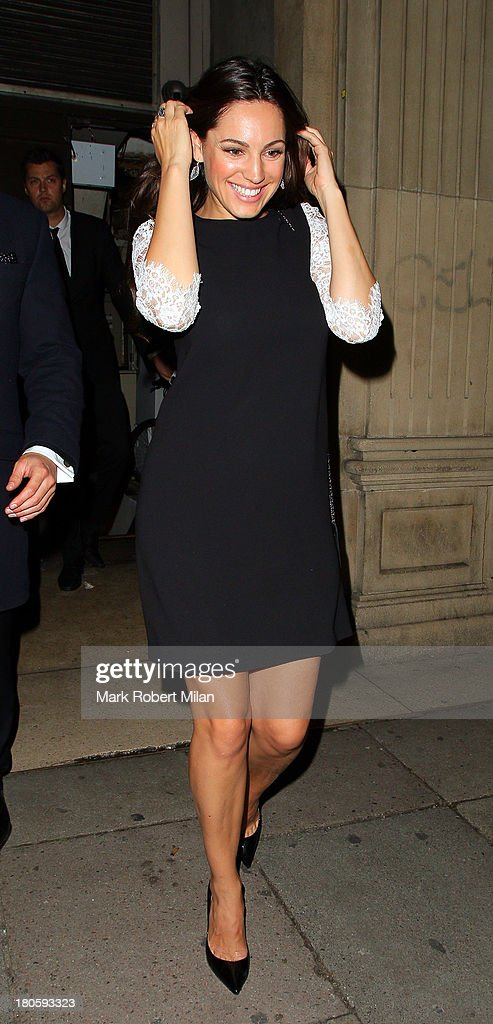 Kelly Brook leaving Mahiki night club on September 14, 2013 in London, England.