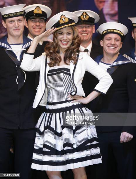 Kelly Brook on board HMS Westminster during the launch of the London International Boat Show at ExCel in east London