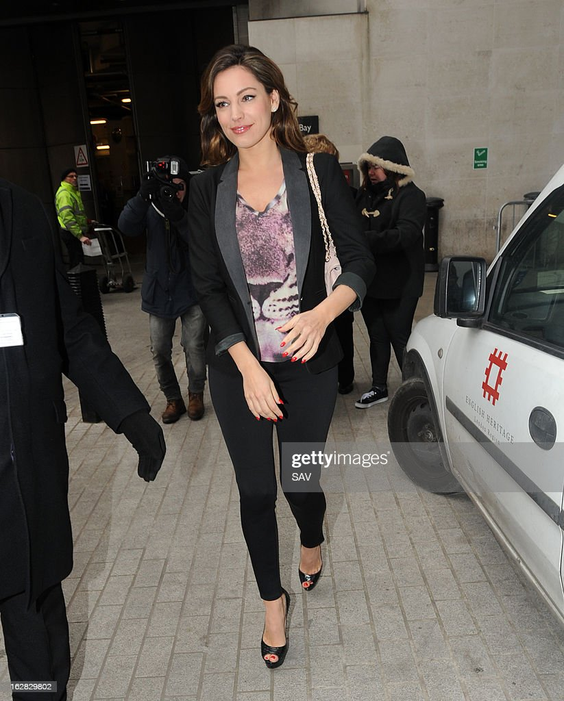 <a gi-track='captionPersonalityLinkClicked' href=/galleries/search?phrase=Kelly+Brook&family=editorial&specificpeople=206582 ng-click='$event.stopPropagation()'>Kelly Brook</a> pictured at Radio 1 on March 28, 2013 in London, England.