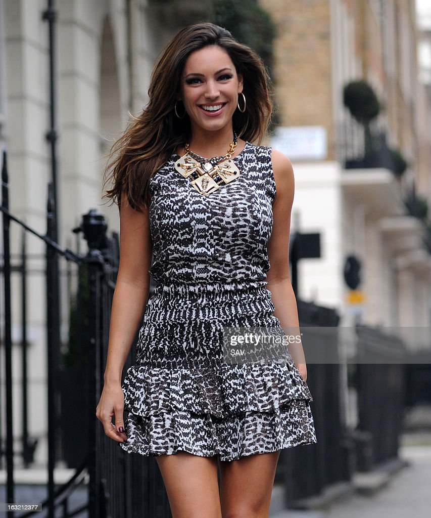 Kelly Brook pictured leaving her house on March 6, 2013 in London, England.