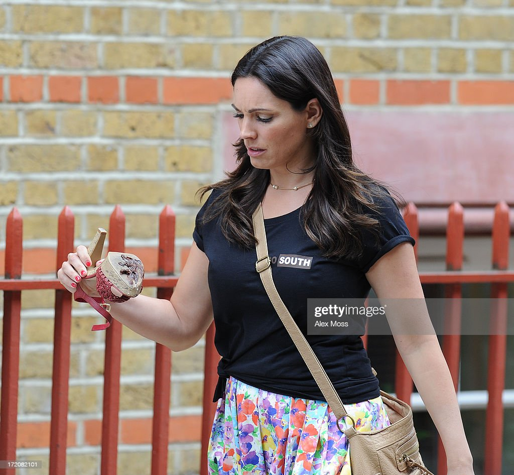 Kelly Brook Seen acting on set of her new film Taking Stock on July 1, 2013 in London, England.