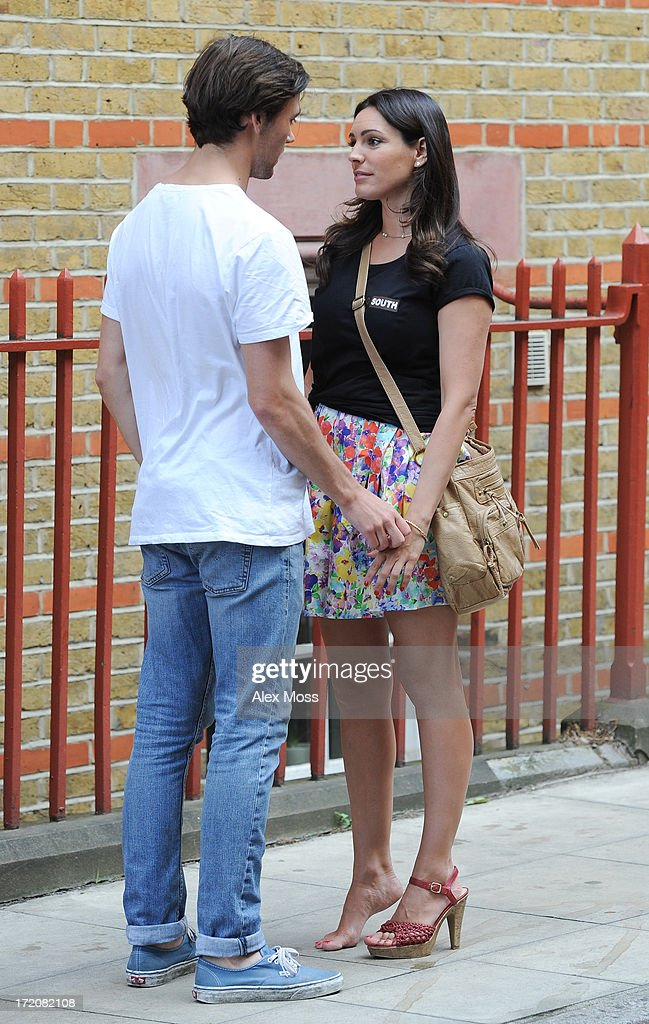 <a gi-track='captionPersonalityLinkClicked' href=/galleries/search?phrase=Kelly+Brook&family=editorial&specificpeople=206582 ng-click='$event.stopPropagation()'>Kelly Brook</a> Seen acting on set of her new film Taking Stock on July 1, 2013 in London, England.
