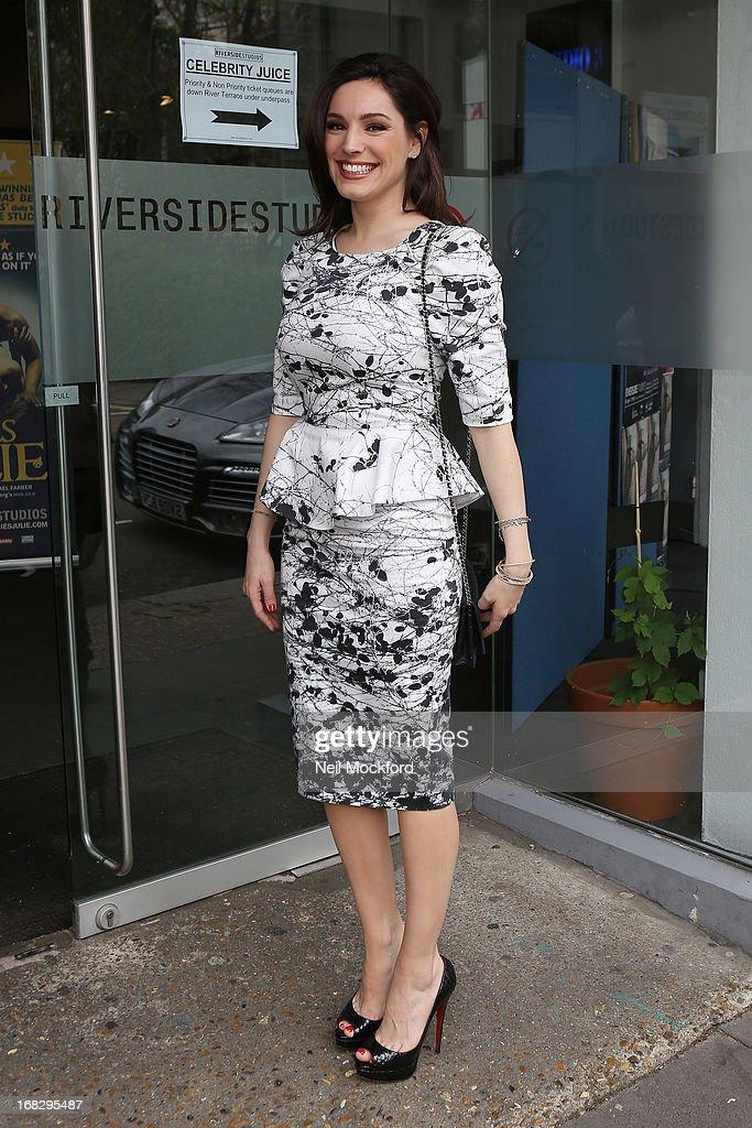 Kelly Brook seen arriving at Riverside Studios to film Celebrity Juice on May 8, 2013 in London, England.