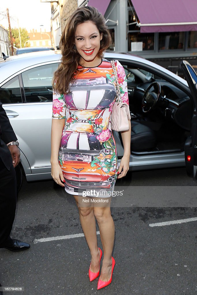 Kelly Brook seen arriving to Riverside Studios to film the new series of Celebrity Juice on February 27, 2013 in London, England.