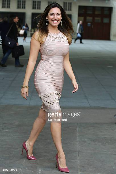 Kelly Brook seen at BBC Radio One on September 9 2014 in London England