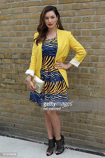 Kelly Brook seen attending the Zoe Jordan Catwalk Show during London Fashion Week on September 14 2012 in London England
