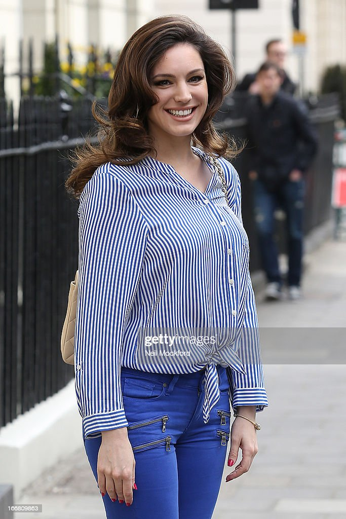 <a gi-track='captionPersonalityLinkClicked' href=/galleries/search?phrase=Kelly+Brook&family=editorial&specificpeople=206582 ng-click='$event.stopPropagation()'>Kelly Brook</a> seen heading to Riverside Studios to film Celebrity Juice on April 17, 2013 in London, England.