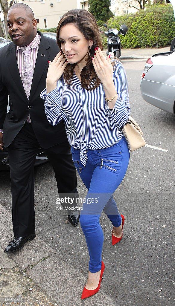 Kelly Brook seen heading to Riverside Studios to film Celebrity Juice on April 17, 2013 in London, England.
