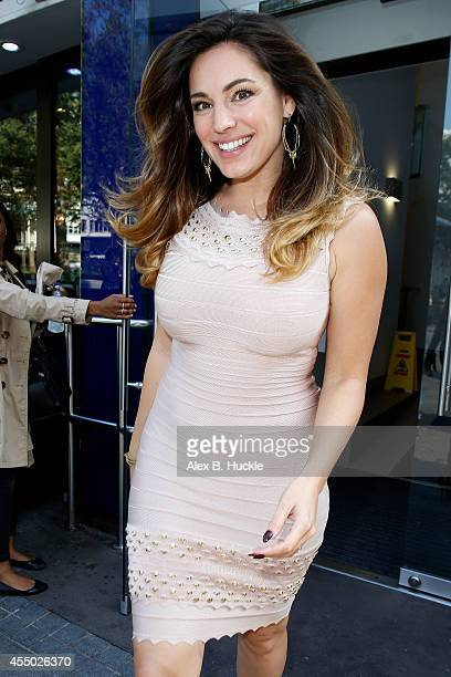 Kelly Brook seen leaving the Capital Radio Studios on September 9 2014 in London England Photo by Alex Huckle/GC Images