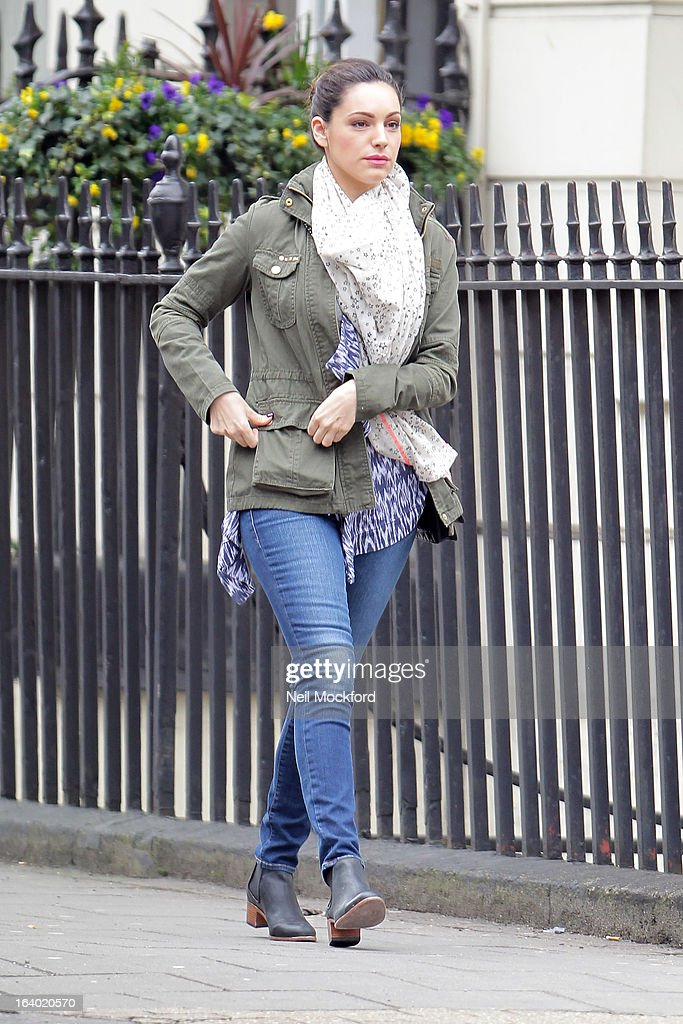 Kelly Brook seen near her home on March 19, 2013 in London, England.