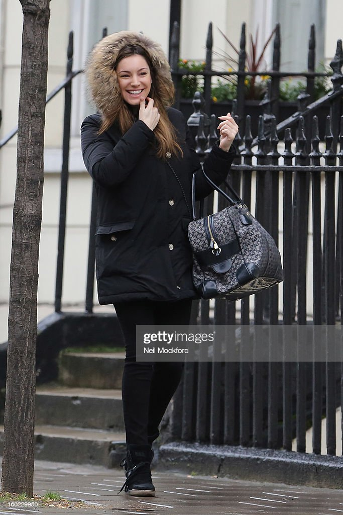 Kelly Brook seen out and about on January 28, 2013 in London, England.