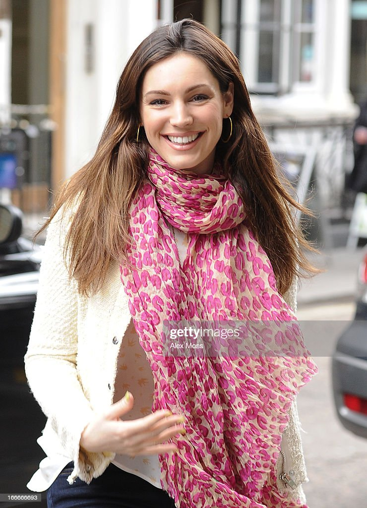 Kelly Brook Seen out in soho on April 15, 2013 in London, England.