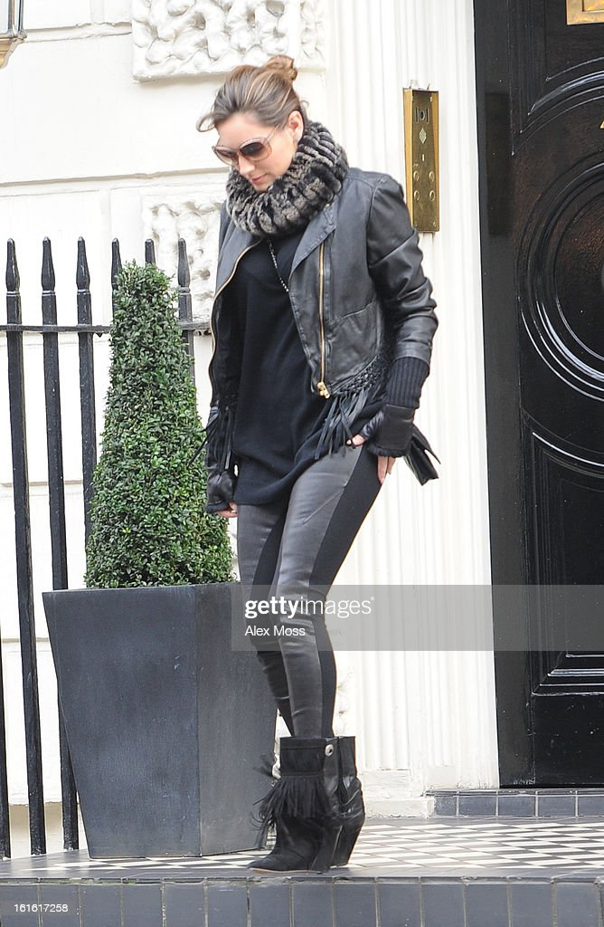 Kelly Brook Seen Shopping In Central London on February 13, 2013 in London, England.