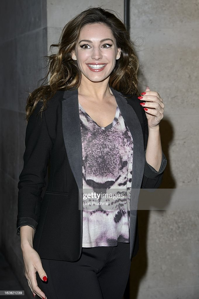 <a gi-track='captionPersonalityLinkClicked' href=/galleries/search?phrase=Kelly+Brook&family=editorial&specificpeople=206582 ng-click='$event.stopPropagation()'>Kelly Brook</a> sighted at BBC Radio One Studios on February 28, 2013 in London, England.