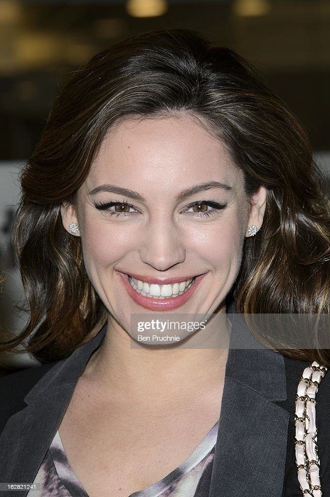 Kelly Brook sighted at BBC Radio One Studios on February 28, 2013 in London, England.