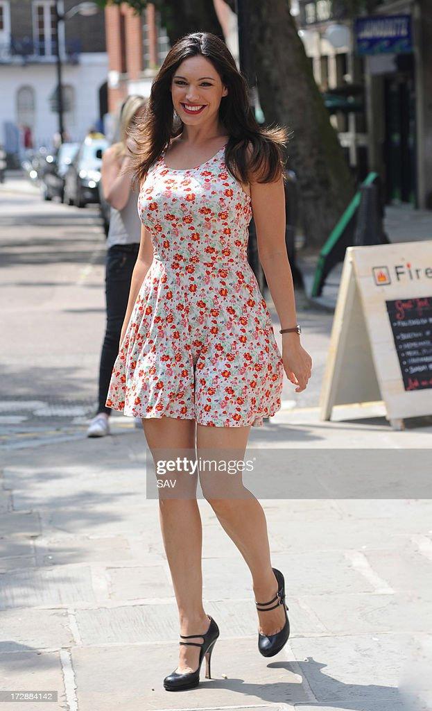 Kelly Brook sighted whilst filming on July 5, 2013 in London, England.