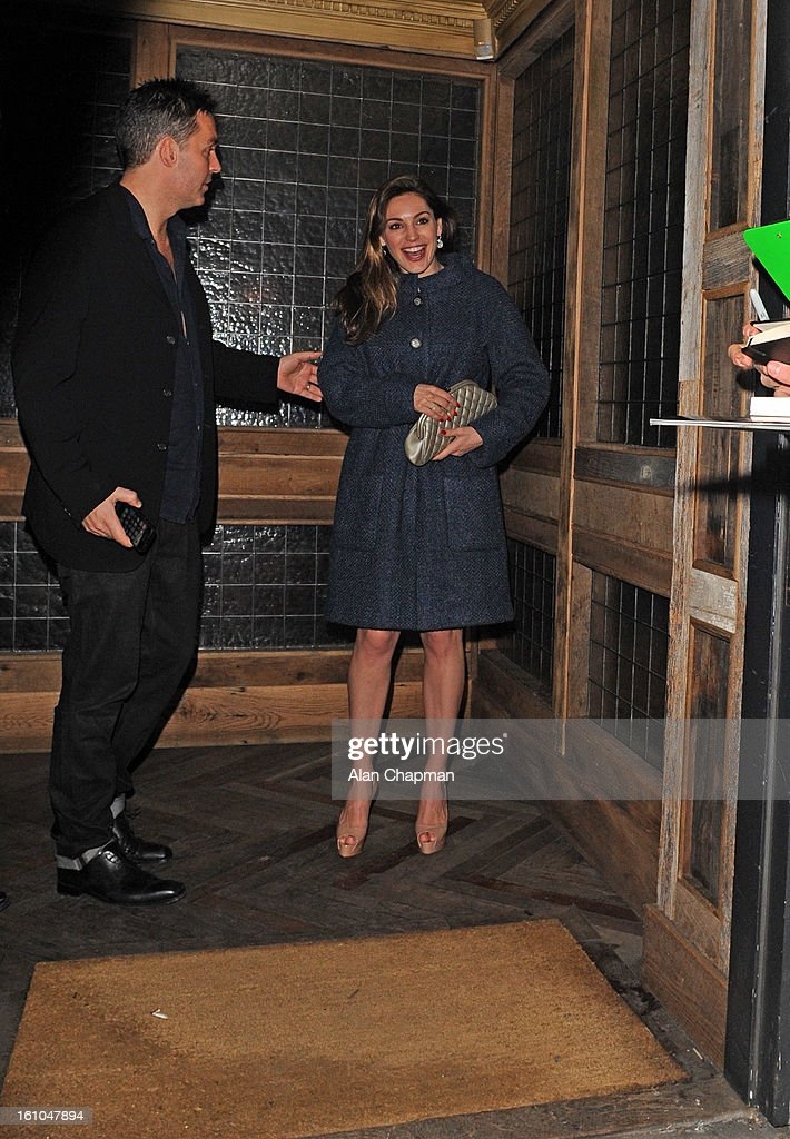 Kelly Brook sighting at Little House Mayfair on February 8, 2013 in London, England.