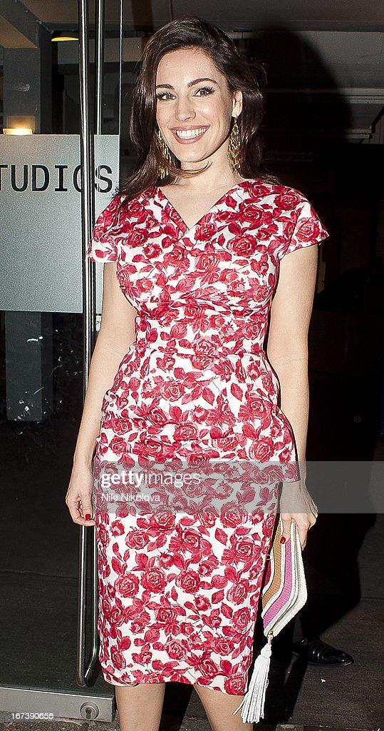 Kelly Brook sighting at Riverside Studios on April 24, 2013 in London, England.