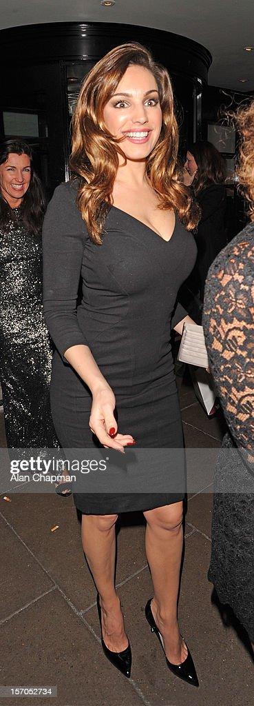 Kelly Brook sighting at the British Fashion Awards on November 27, 2012 in London, England.