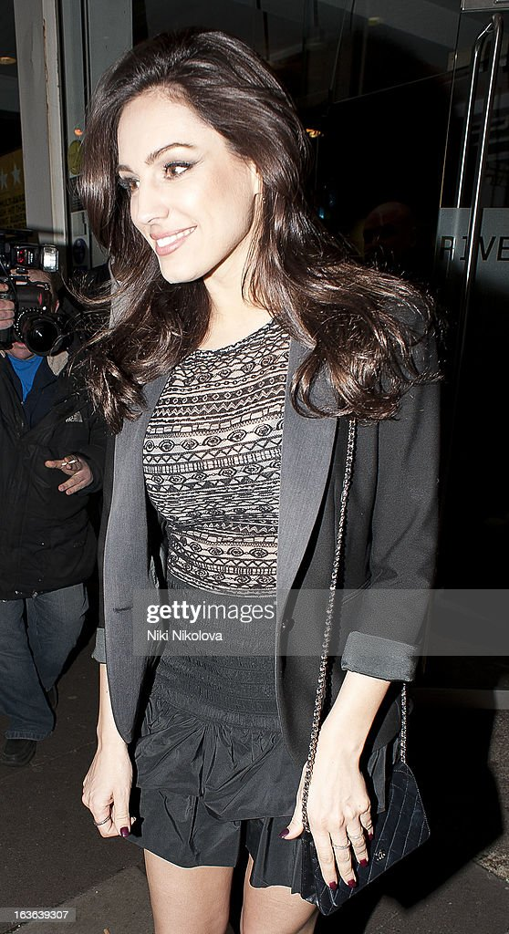 Kelly Brook sighting on March 13, 2013 in London, England.