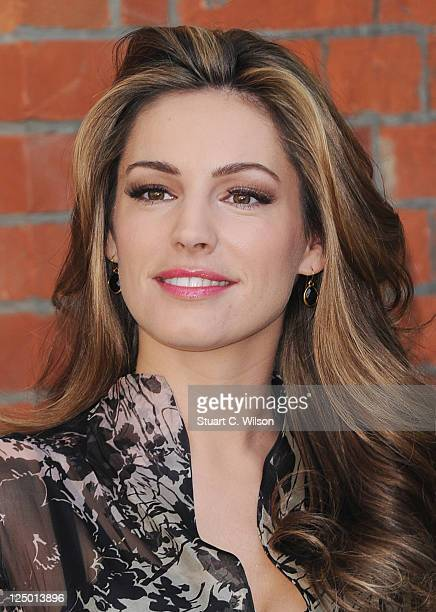 Kelly Brook unveils PETA campaign targeting ExoticSkins trade at Covent Garden Piazza on September 15 2011 in London England