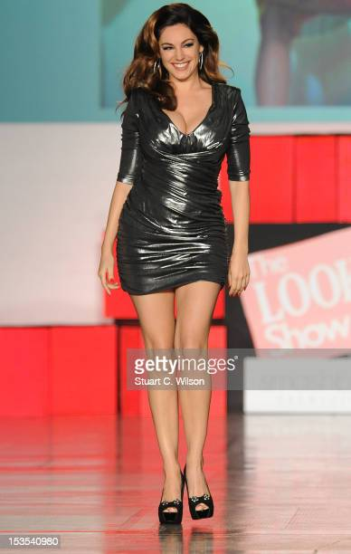 Kelly Brook walks the catwalk at The Look Show in association with Smashbox Cosmetics at Royal Courts of Justice Strand on October 6 2012 in London...