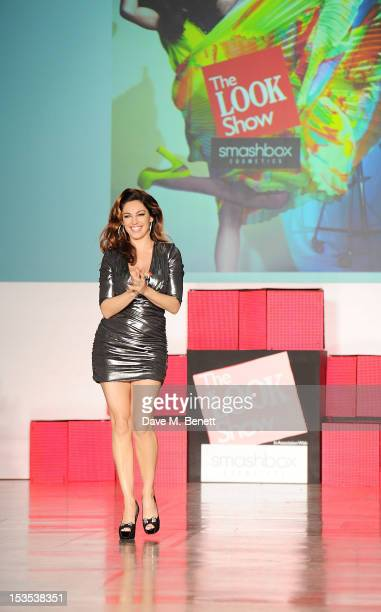 Kelly Brook walks the catwalk during The LOOK Show in association with Smashbox Cosmetics at the Royal Courts of Justice Strand on October 6 2012 in...