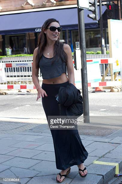 Kelly Brooke is seen outside Scott's Bar on June 23 2010 in London England