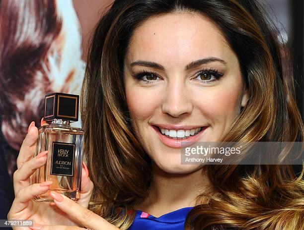 Kelly Brooklaunches her new perfume 'Audition' at The Perfume Shop on March 17 2014 in London England