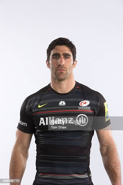 Kelly Brown of Saracens poses for a picture during the BT Photoshoot at Old Albanians Sports Ground on September 1 2014 in St Albans England
