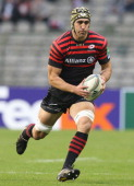 Kelly Brown of Saracens runs with the ball during the Heineken Cup match between Saracens and Racing Metro at King Baudouin Stadium on October 20...