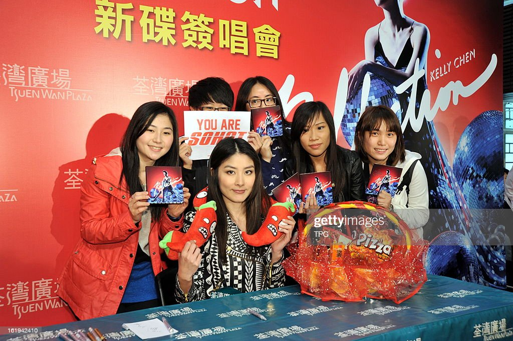 Kelly Chan's new album autograph signing activity on Sunday February 17, 2013 in Hong Kong, China.