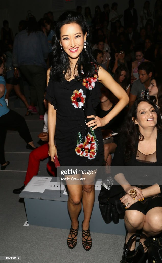 <a gi-track='captionPersonalityLinkClicked' href=/galleries/search?phrase=Kelly+Choi&family=editorial&specificpeople=5102141 ng-click='$event.stopPropagation()'>Kelly Choi</a> attends the TRESemme at Vivienne Tam fashion show during Mercedes-Benz Fashion Week Spring 2014 at The Stage at Lincoln Center on September 8, 2013 in New York City.