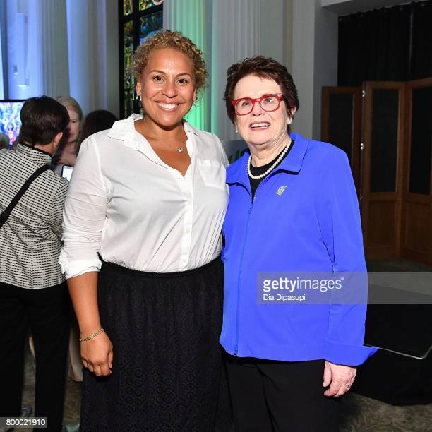Kelly Christina NascimentoDeLuca and Women's Sports Foundation founder Billie Jean King attend the Women's Sports Foundation 45th Anniversary of...