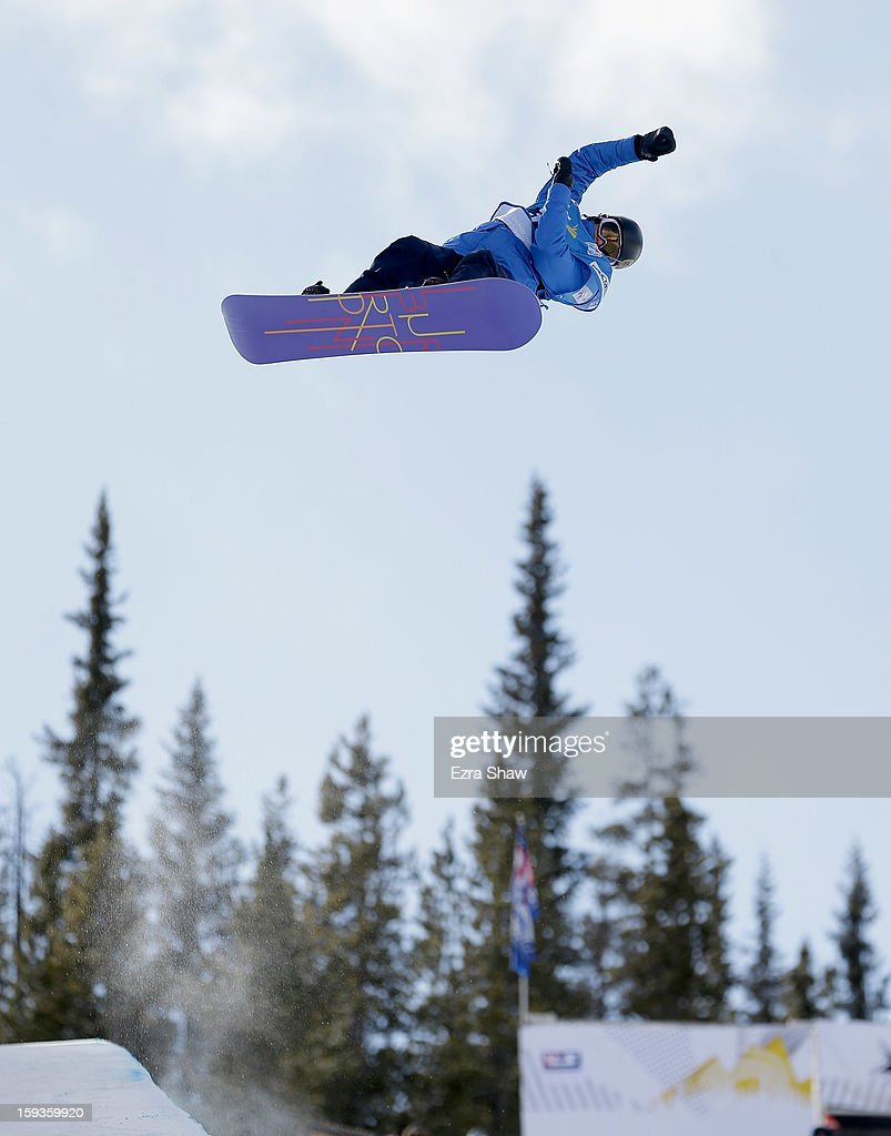 <a gi-track='captionPersonalityLinkClicked' href=/galleries/search?phrase=Kelly+Clark&family=editorial&specificpeople=221586 ng-click='$event.stopPropagation()'>Kelly Clark</a> competes in the FIS Snowboard World Cup Half Pipe ladies' final at the US Grand Prix on January 12, 2013 in Copper Mountain, Colorado.