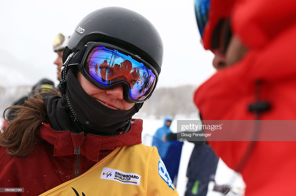 <a gi-track='captionPersonalityLinkClicked' href=/galleries/search?phrase=Kelly+Clark&family=editorial&specificpeople=221586 ng-click='$event.stopPropagation()'>Kelly Clark</a> looks on during practice for qualification at the FIS Snowboard Halfpipe World Cup at the Sprint U.S. Grand Prix at Park City Mountain on January 30, 2013 in Park City, Utah.