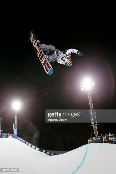 Kelly Clark of the USA takes 2nd place during the Winter X Games Women's Snowboard Superpipe on January 24 2015 in Aspen USA