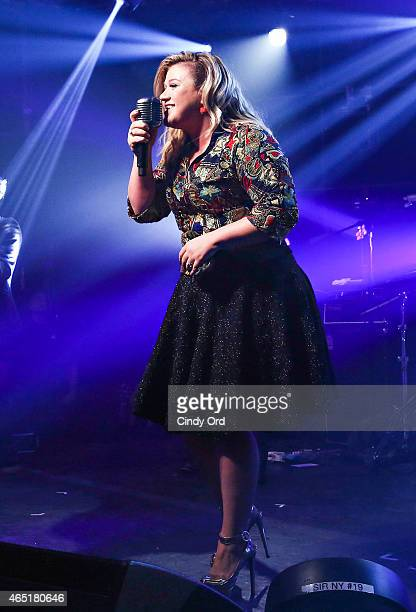 Kelly Clarkson gives an exclusive performance at iHeartRadio Theater on March 2 2015 in New York City