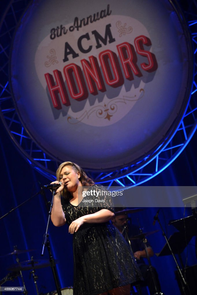 Kelly Clarkson performs at the 8th Annual ACM Honors at the Ryman Auditorium on September 9 2014 in Nashville Tennessee
