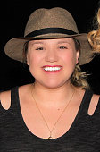 Kelly Clarkson poses backstage at 'Chicago' on Broadway at The Ambassador Theater on February 28 2015 in New York City