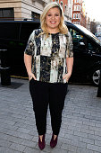 Kelly Clarkson seen arriving at the BBC Radio 1 Studios on February 17 2015 in London England