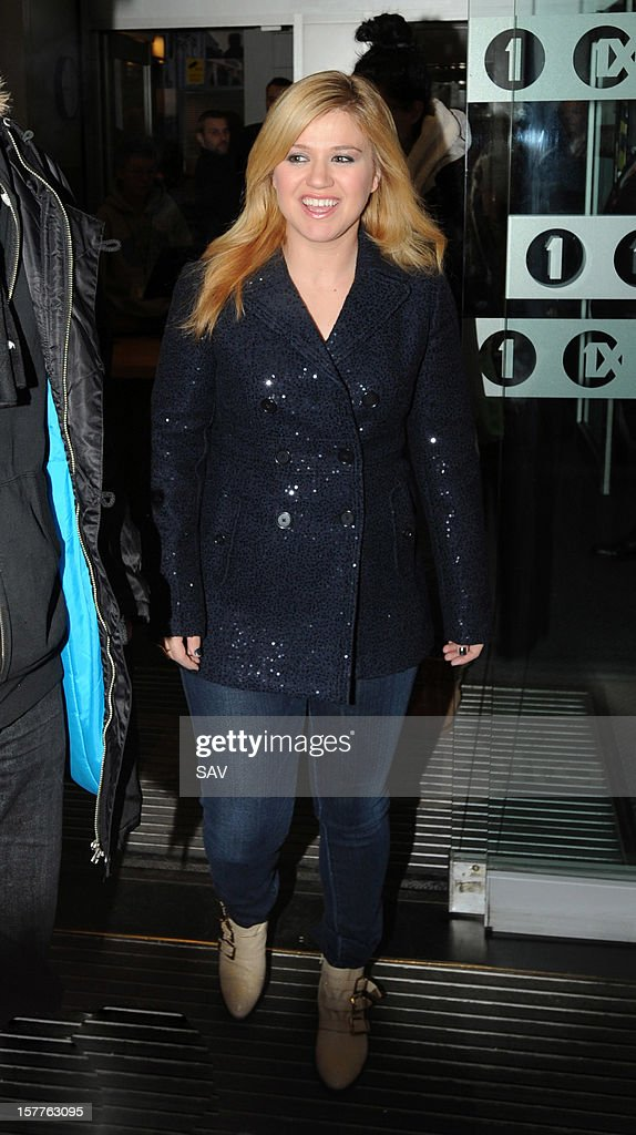 <a gi-track='captionPersonalityLinkClicked' href=/galleries/search?phrase=Kelly+Clarkson&family=editorial&specificpeople=201555 ng-click='$event.stopPropagation()'>Kelly Clarkson</a> sighted at BBC Radio 1 studios on December 6, 2012 in London, England.