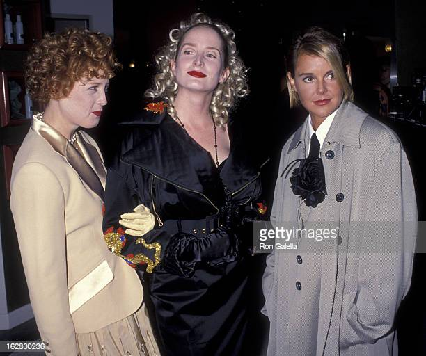 Kelly Coffield Jane Sibbett and Amanda Bearse attend Shauna Stein Fashion Party on November 8 1992 at Jose Eber Salon in Beverly Hills California