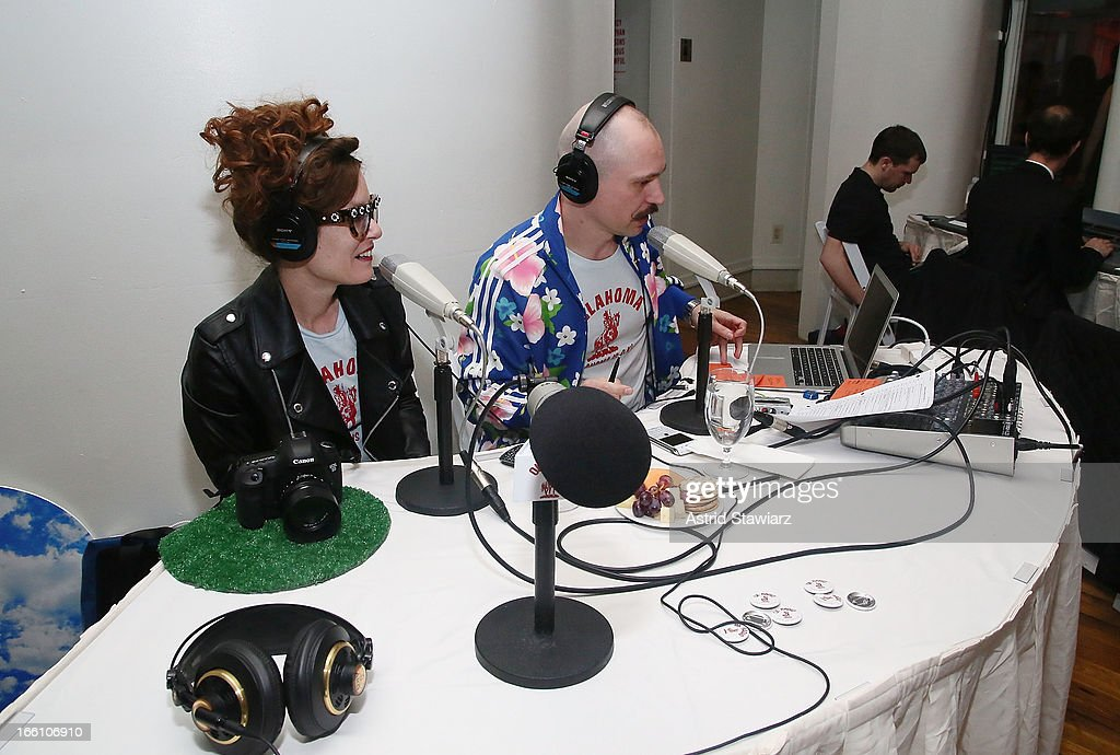 Kelly Copper and Pavol Liska of OK RADIO perform during the Cocktail Reception at Soho Rep's 2013 Spring Gala on April 8, 2013 in New York, United States.