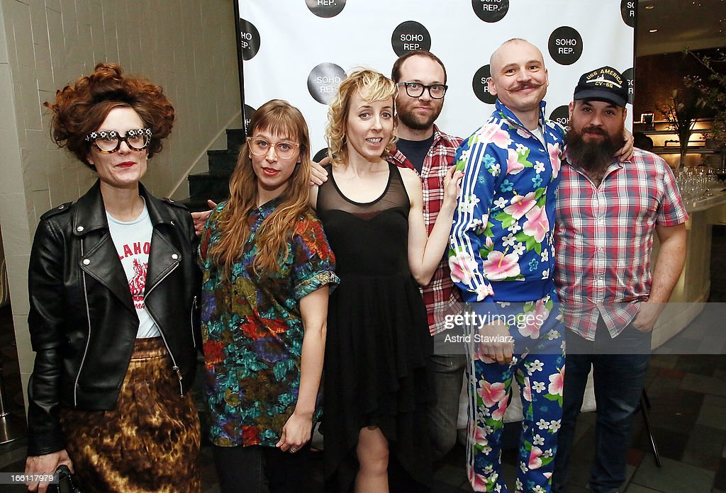 Kelly Copper, Elisabeth Conner, Kristin Worrell, Ilan Bachrach, Pavol Liska and Rob Johanson of Nature Theater of Oklahoma attend Soho Rep's 2013 Spring Gala on April 8, 2013 in New York, United States.