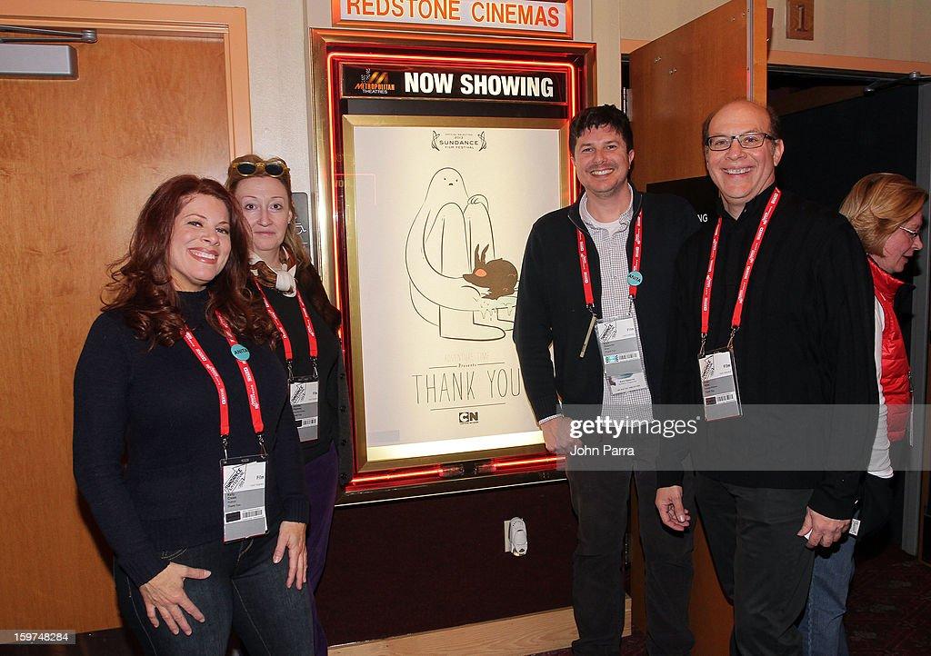 Kelly Crews, Jennifer Pelphrey, Kent Osborne and Brian Miller attend Adventure Time at Sundance at Redstone Cinema 1 at Kimball Junction on January 19, 2013 in Park City, Utah. (Photo by John Parra/WireImage) 23186_001_JP_0039.JPG